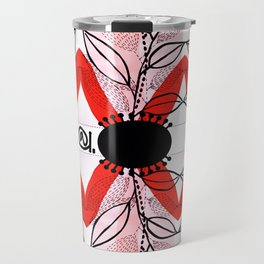 PINKY BLUSH BOUQUET Travel Mug