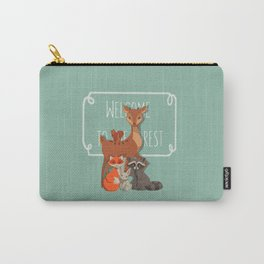 Welcome The Forest Carry-All Pouch