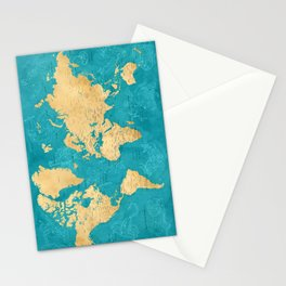 "Detailed wold map with zodiac constellations, ""Lexy"" Stationery Cards"