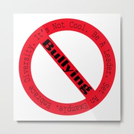 Stop Bullying-Logo Metal Print