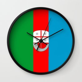 flag of liguria Wall Clock