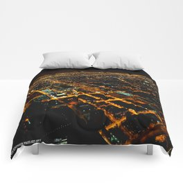 Miles and Miles of Lights (Chicago Architecture Collection) Comforters