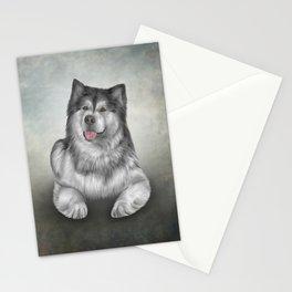 Drawing Dog Alaskan Malamute 11 Stationery Cards