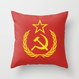 Communist Cold War Flag Throw Pillow