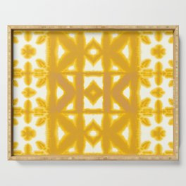 Yellow Pima Shibori Serving Tray