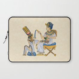King Tut and Queen Ankhesenamun Laptop Sleeve