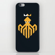 Octopus Rex Logo in Orange iPhone & iPod Skin