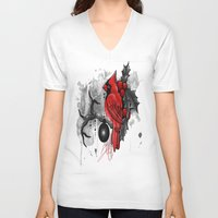 cardinal V-neck T-shirts featuring Cardinal. by SynthiaManson