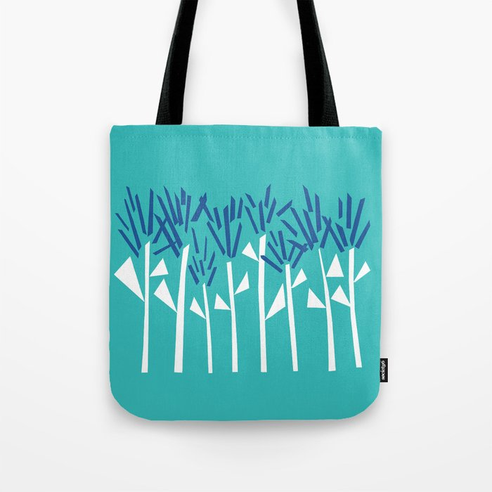 Tropical Blue Plants by Emma Freeman Designs Tote Bag