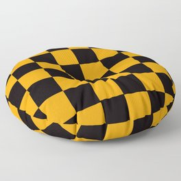 Golden Yellow & Black Chex 2 Floor Pillow