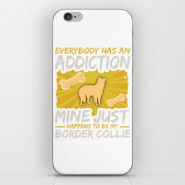 Border Collie Funny Dog Addiction iPhone Skin