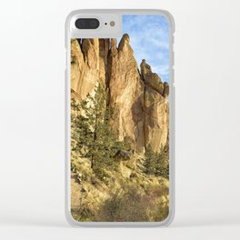 Cool Formations of Smith Rock in Morning Light Clear iPhone Case