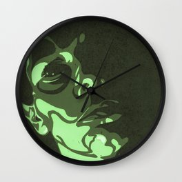 Olive Resting Bitch Face Portrait Wall Clock
