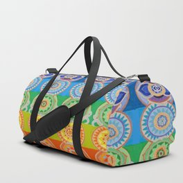 SEVEN CHAKRA SYMBOLS OF HEALING ART Duffle Bag