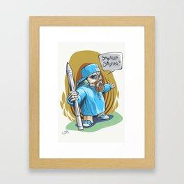 Skully Pen Framed Art Print