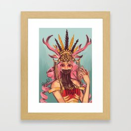 Graceful Horns Framed Art Print