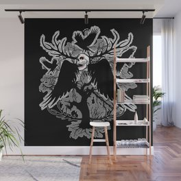 Nightmare Skull and Crows Wall Mural