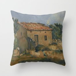 Abandoned House near Aix-en-Provence Throw Pillow