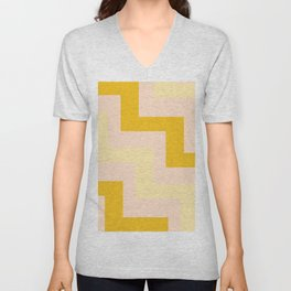 Chevron diagonal 90s Unisex V-Neck