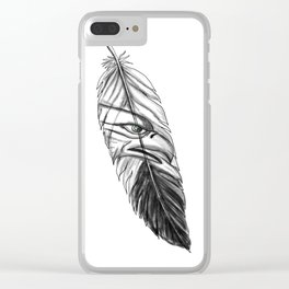 Sea Eagle Feather Tattoo Clear iPhone Case