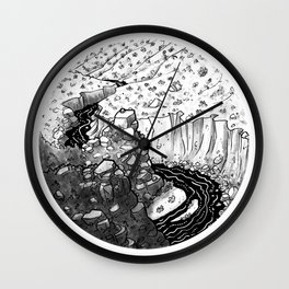 Deep (Backpacking Deep Creek PCT) - Inktober 2017 Wall Clock