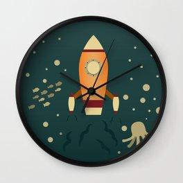 Spaceship Underwater Wall Clock