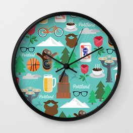 PDX patten Wall Clock