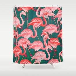 flamingo tropical Shower Curtain