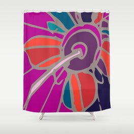 Spring collection - orange&orchid - flower Shower Curtain