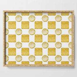Savoury Biscuits Polka Dot Pattern Serving Tray