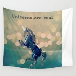 Unicorns are Real Wall Tapestry