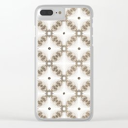 Vintage Filligree 4 Clear iPhone Case