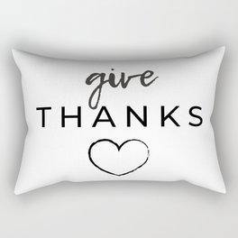 Give Thanks!  Rectangular Pillow