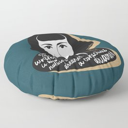 The Writer Is A Dreamer - Carson McCullers - Teal Floor Pillow