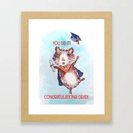 Guinea Pig Graduation Framed Art Print