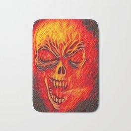 Fire Skull Airbrush Bath Mat