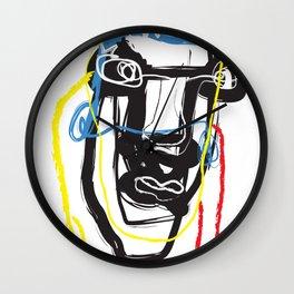 Mr. Head | Graffiti Art | Color Graffiti Art Prints Wall Clock