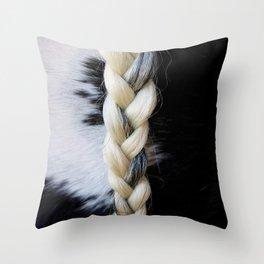 Equine Braid Throw Pillow
