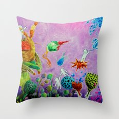 STELLARVIRUS Throw Pillow