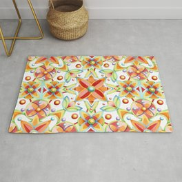 Suzani Textile Pattern Rug