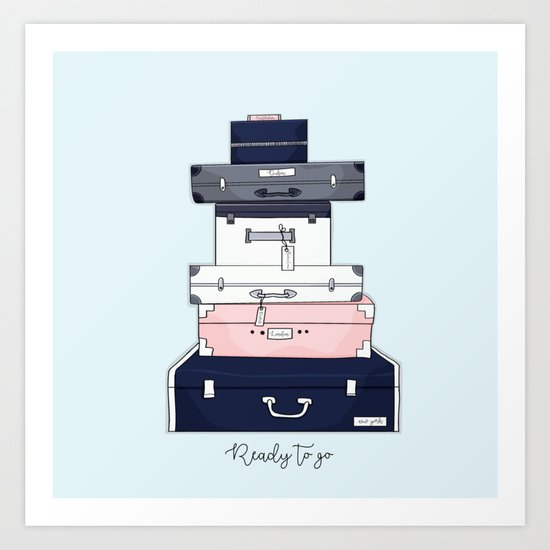 Ready to go Art Print
