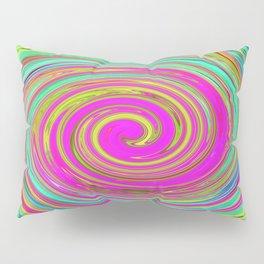 Groovy Abstract Pink Swirl Art 094 Pillow Sham