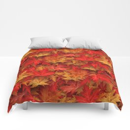 Autumn Case Fall Leaves Comforters