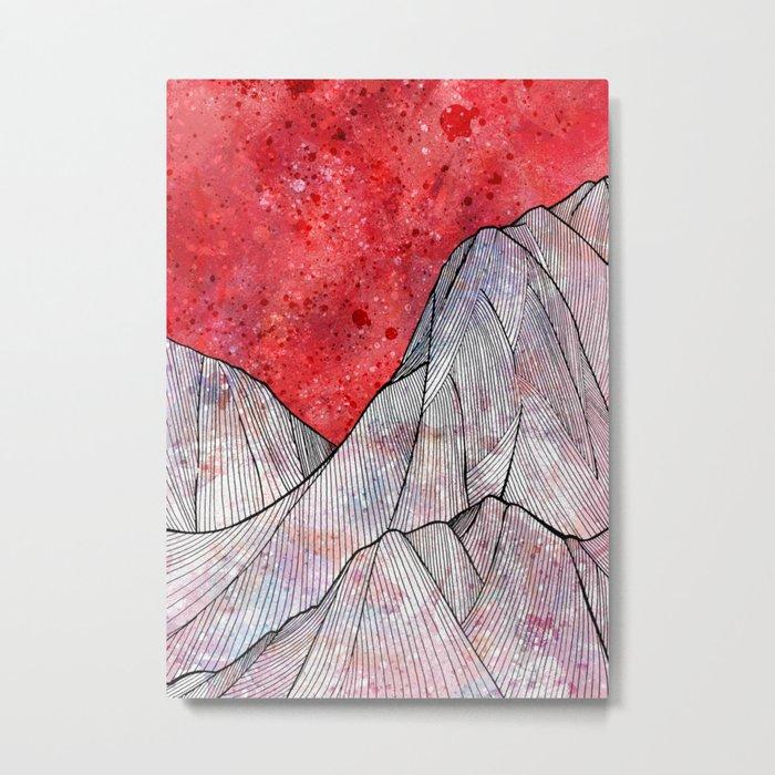 As the sky turned red Metal Print