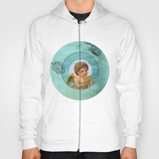 Angel playing music in space Hoody