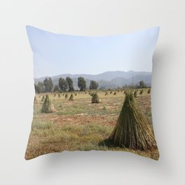 Sesame Crop and Harvest Throw Pillow
