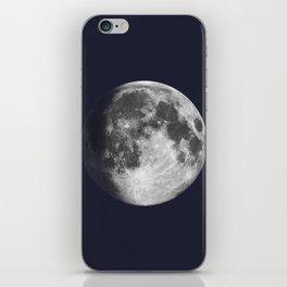 Waxing Gibbous Moon on Navy iPhone Skin