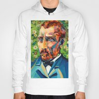 van gogh Hoodies featuring Van Gogh by Esteban del Valle