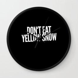 Yellow Snow Wall Clock