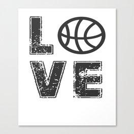 love basketball Canvas Print